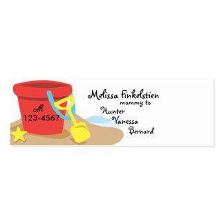 Sand Pail Mini Business Card