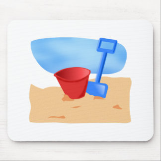 Sand Pail on the Beach Mouse Pad