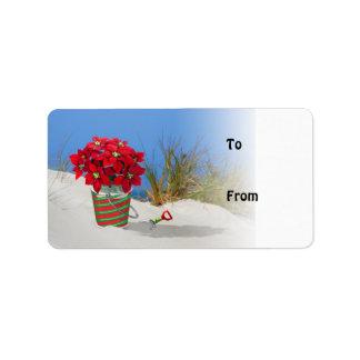 Sand Pail Pointsettia Plant Gift Tags