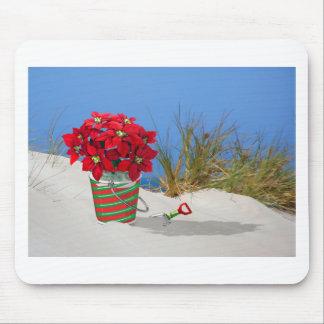 Sand Pail Pointsettia Plant Mouse Pad