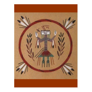 Sand Painting Native American Tribal Postcard