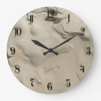 Sand pattern large clock