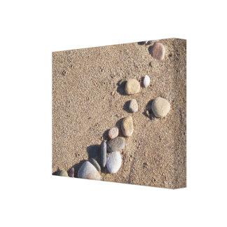 Sand Pebbles Wrapped Canvas Canvas Print