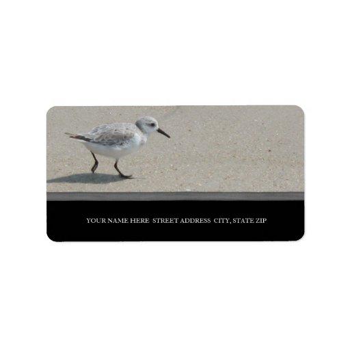 Sand Piper Address Labels