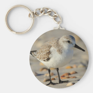 Sand Piper and Seashells Basic Round Button Keychain