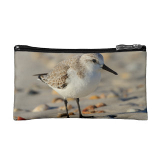Sand Piper and Seashells Cosmetic Bag