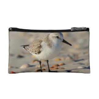 Sand Piper and Seashells Makeup Bag