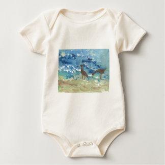 Sand piper baby bodysuit