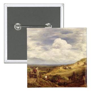 Sand Pits, Hampstead Heath, 1849 Pinback Button