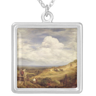 Sand Pits, Hampstead Heath, 1849 Silver Plated Necklace