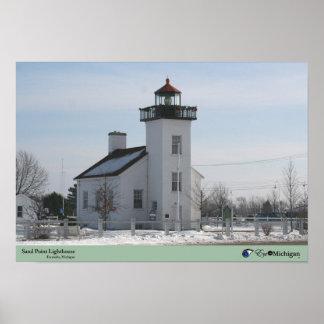 Sand Point Lighthouse - Escanaba, MI Poster