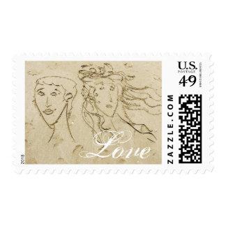 Sand Portraits - love stamps