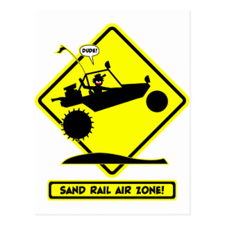 SAND RAIL AIR Road Signs Postcard