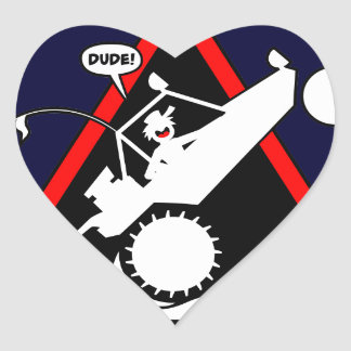 SAND RAIL WHEELIE Dangers Heart Sticker