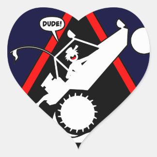 SAND RAIL WHEELIE Dangers Heart Sticker