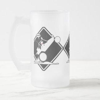 SAND RAIL WHEELIE Placard Frosted Glass Beer Mug