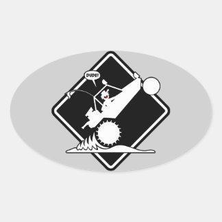 SAND RAIL WHEELIE Placard Oval Sticker