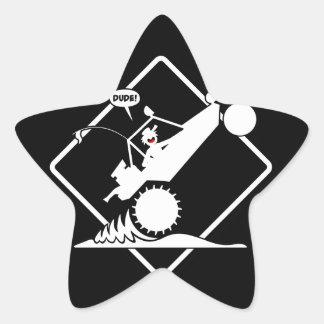 SAND RAIL WHEELIE Placard Star Sticker