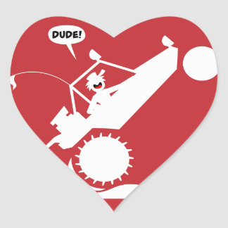 SAND RAIL WHEELIE signs Heart Sticker