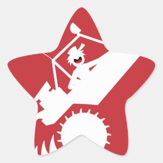 SAND RAIL WHEELIE signs Star Sticker