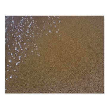 Beach Themed Sand, reflected sky, retreating wave, Maui, beach Poster