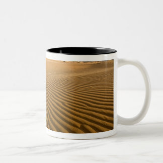 Sand ripples and dunes at Coral Pink Sand 2 Two-Tone Coffee Mug
