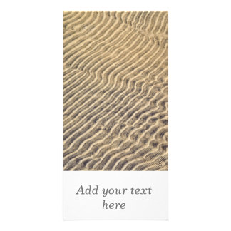 Sand ripples in shallow water customized photo card