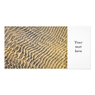 Sand ripples in shallow water photo card template