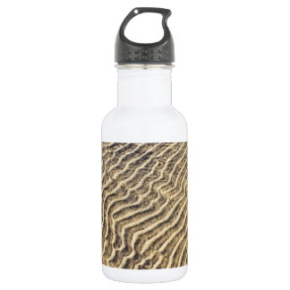 Sand ripples in shallow water stainless steel water bottle