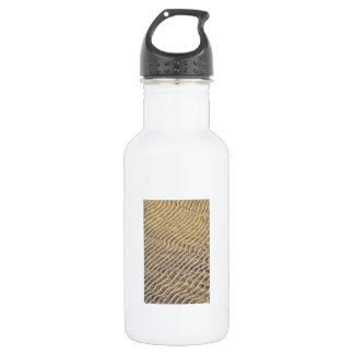 Sand ripples in shallow water water bottle
