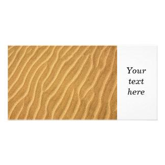 Sand ripples photo card template