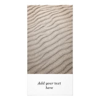 Sand ripples texture custom photo card
