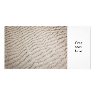 Sand ripples texture picture card