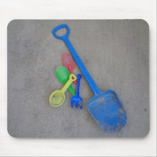 Sand Scoops, Kids Playground Beach Summer Mouse Pad