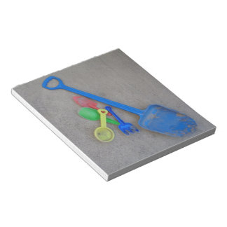 Sand Scoops, Kids Playground Beach Summer Notepad