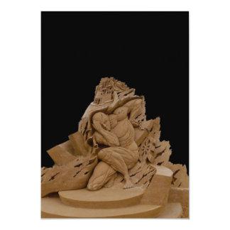 Sand sculpture card