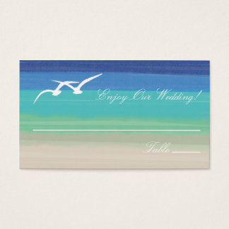 Sand, Sea and Seagulls Escort Cards