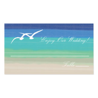 Sand, Sea and Seagulls Escort Cards Double-Sided Standard Business Cards (Pack Of 100)