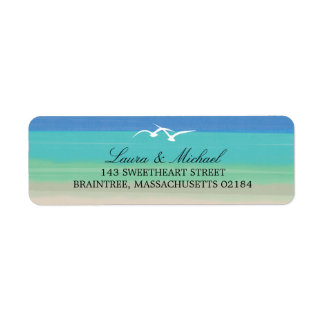 Sand, Sea and Seagulls | Return Address Label