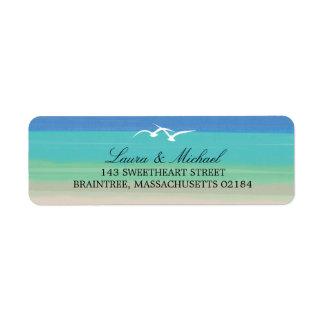 Sand, Sea and Seagulls | Return Address Labels