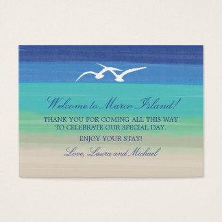 Sand Sea and Seagulls | Wedding Favor Tag