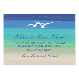 Sand Sea and Seagulls | Wedding Favor Tag Large Business Card