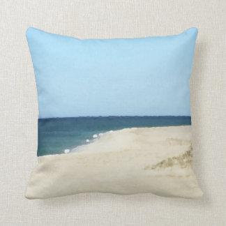 Sand, Sea, and Sky on Cape Cod Throw Pillow
