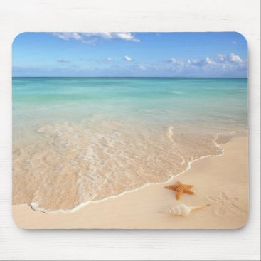 Beach Themed Sand & Sea Mouse Pad