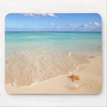 Beach Themed Sand & Sea Mouse Pad