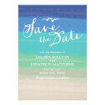 Sand, Sea & Seagulls | Painted Ocean Save the Date Cards
