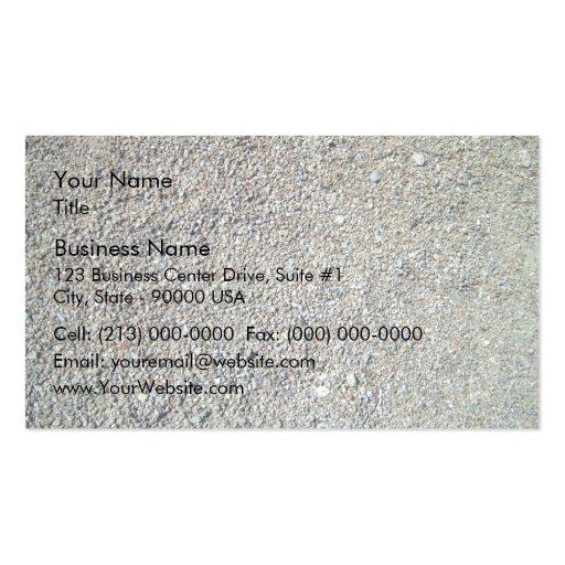 Sand shingle seamless texture business card template