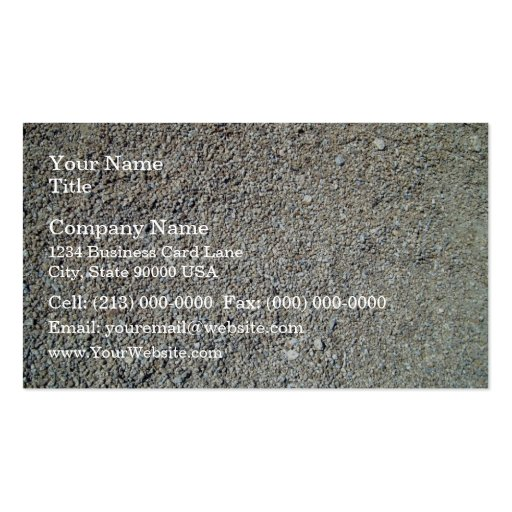 Sand shingle seamless texture business card templates