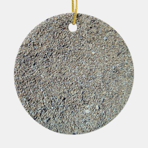 Sand shingle seamless texture christmas ornament
