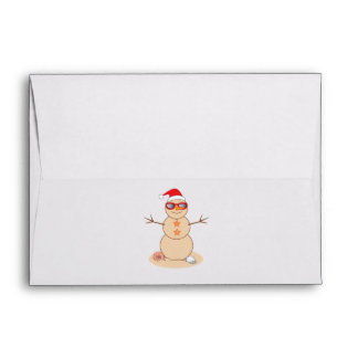 Sand Snowman with Shades Holidays Envelope